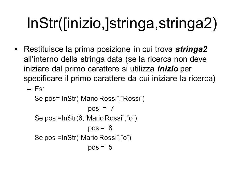InStr([inizio,]stringa,stringa2)